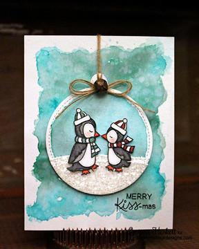 Holiday Smooches | 4x6 Photopolymer Stamp Set | Newton's Nook Designs