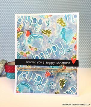 Happy Christmas Card | Simply Seasonal | 4x6 Photopolymer Stamp Set | Newton's Nook Designs