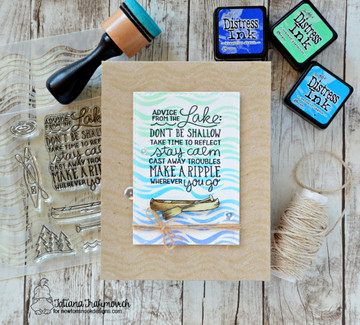 Lake Advice Stamp Set by Newton's Nook Designs