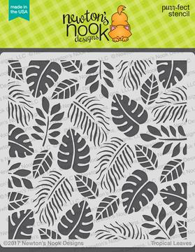Tropical Leaves Stencil ©2017 Newton's Nook Designs