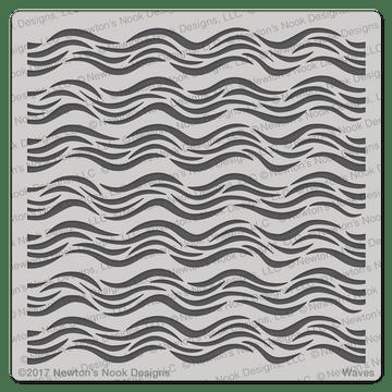 Waves Stencil ©2017 Newton's Nook Designs