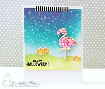 Spooky Skeletons Stamp Set ©2017 Newton's Nook Designs