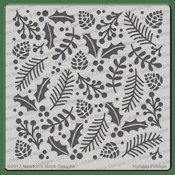 Holiday Foliage Stencil ©2017 Newton's Nook Designs