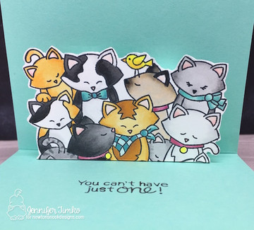 Company of Cats Stamp Set ©2018 Newton's Nook Designs