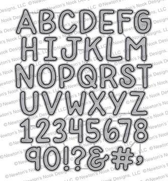 Essential Alphabet Die Set ©2018 Newton's Nook Designs