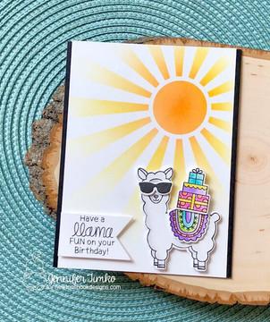 Loveable Llamas Stamp Set ©2018 Newton's Nook Designs
