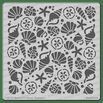 Seashells Stencil ©2018 Newton's Nook Designs