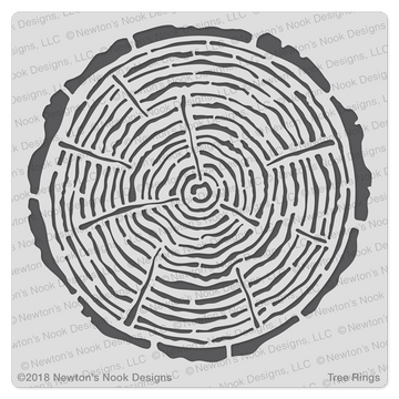 Tree Rings Stencil ©2018 Newton's Nook Designs