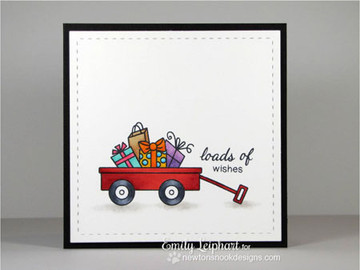 Wagon Birthday Card   Wagon of Wishes Stamp Set by Newton's Nook Designs.