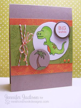 Big Wishes Dinosaur Card  | Prehistoric Pals stamp set by Newton's Nook Designs