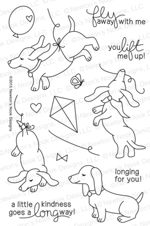 Delightful Doxies | 4x6 Photopolymer Stamp Set | Newton's Nook Designs