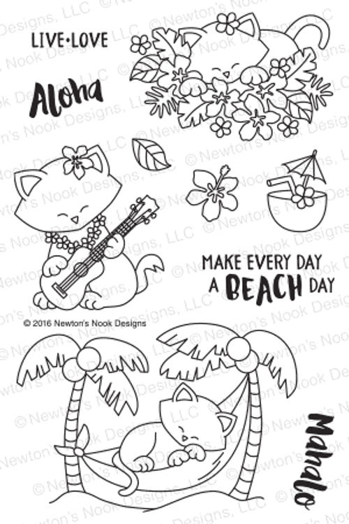 Aloha Newton Stamp Set by Newton's Nook Designs