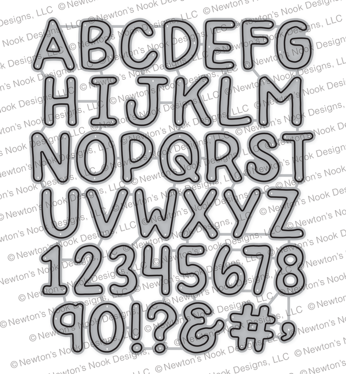 Essential Alphabet Die Set ©2018 Newton's Nook Designs