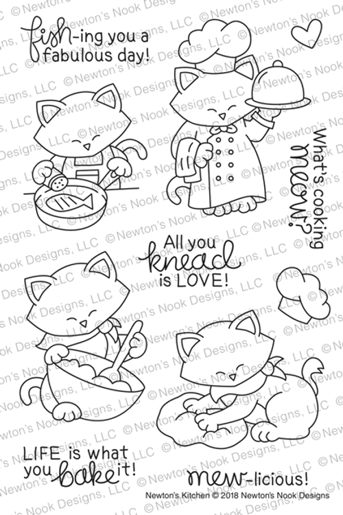 Newton's Kitchen Stamp Set ©2018 Newton's Nook Designs