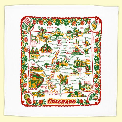 Colorado  Map Towel