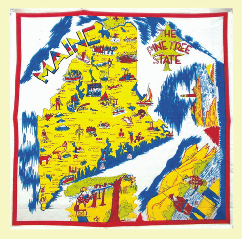 Maine  Map Towel