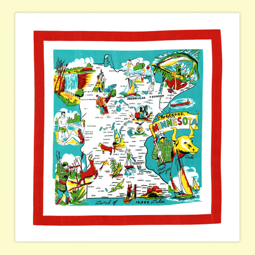 Minnesota  Map Towel