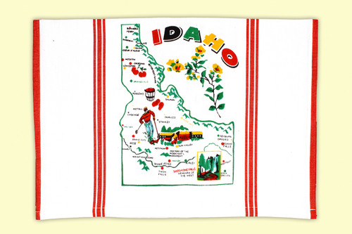 Idaho  Map Towel