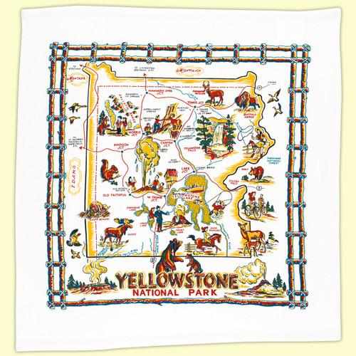 Yellowstone Map Towel