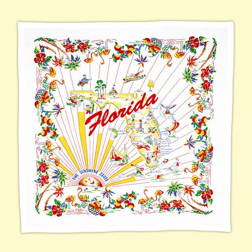 Florida Map Towel