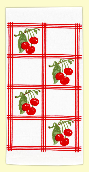 Country Cherry, red, Towel