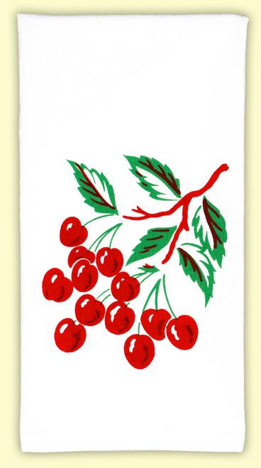 Cherry Tile Towel