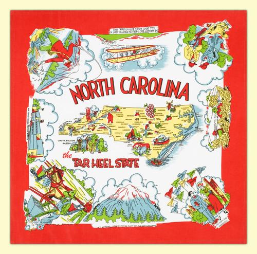 North Carolina Map Towel