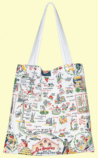 Los Angeles Map Tote, Medium
