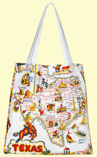 Texas Map  Tote, Medium