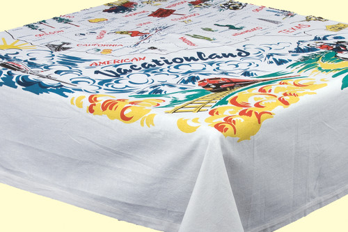 Vacationland  Map Tablecloth