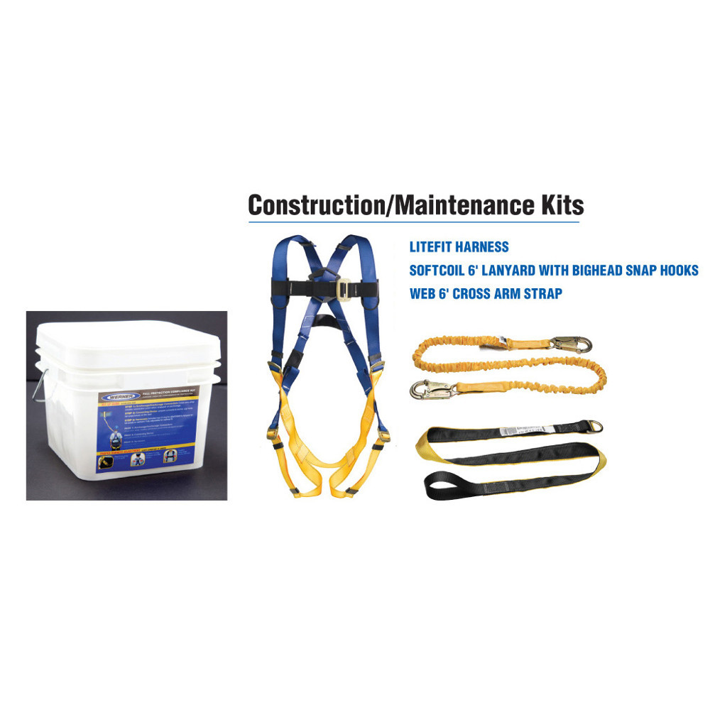 Werner K121001  Construction/Maintenance Bucket (Pass-thru Buckle Harness)
