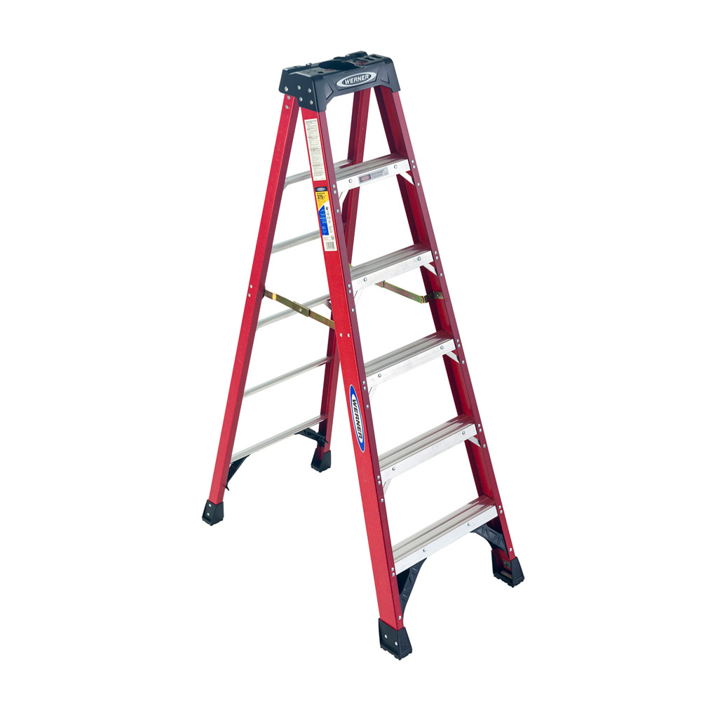Werner 6300 Series Stepladder 375 lb rated