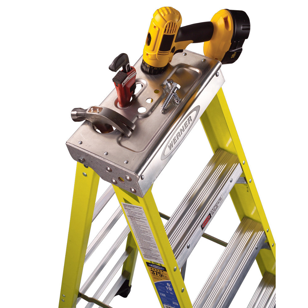 Werner 7300 Series Stepladder 375 Lb Capacity Industrial