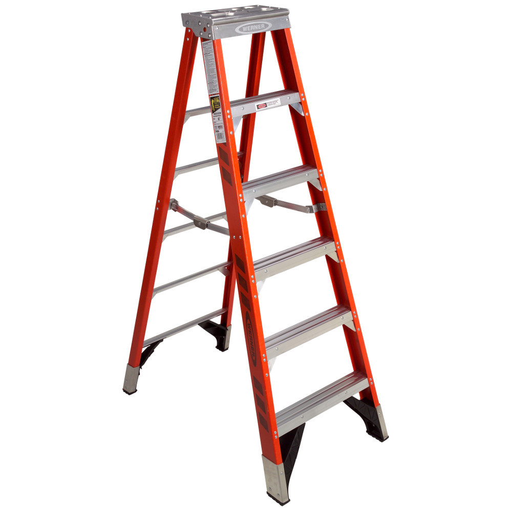 Werner 7400 Series Stepladder 375 Lb Rated Industrial