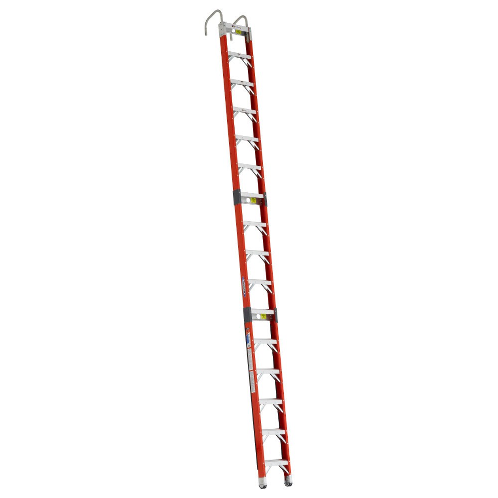 Werner SPF Series Fiberglass Straight Posting Ladder 300 lb Rated