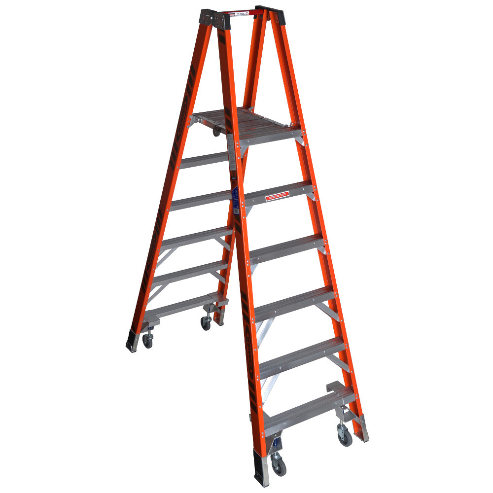 "Werner PT7400-4C Series"" Stockr's"" Ladder with CASTERS 300 lb Rated"