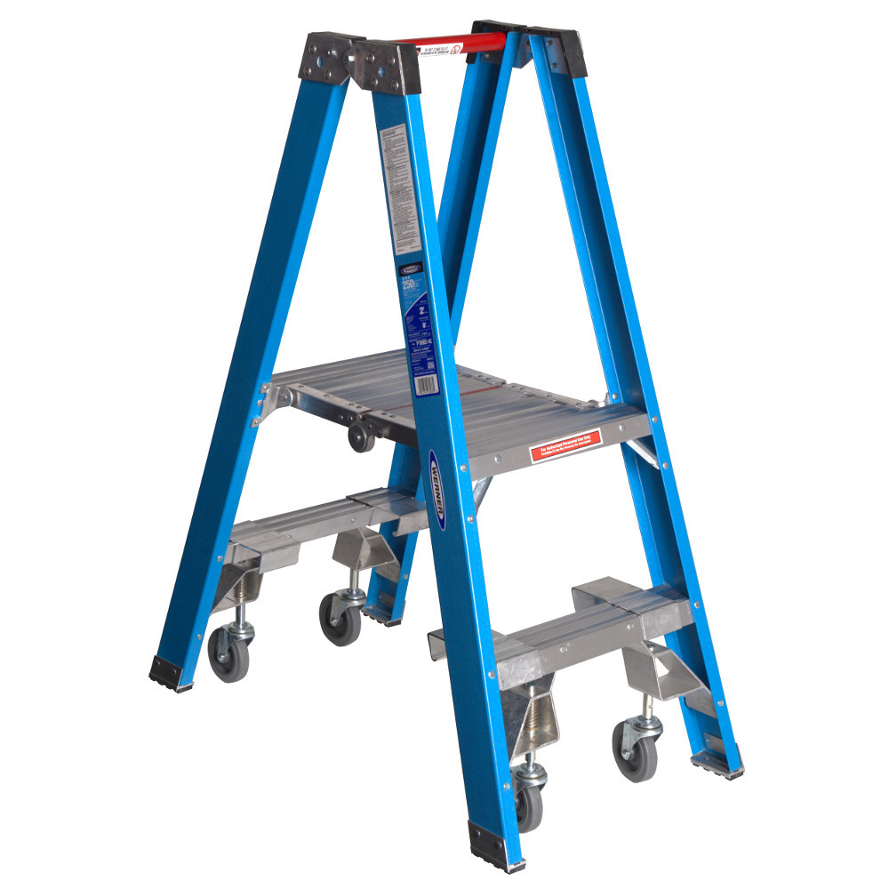 "Werner PT6000-4C Series"" Stockr's"" Ladder with CASTERS 250 lb Rated"