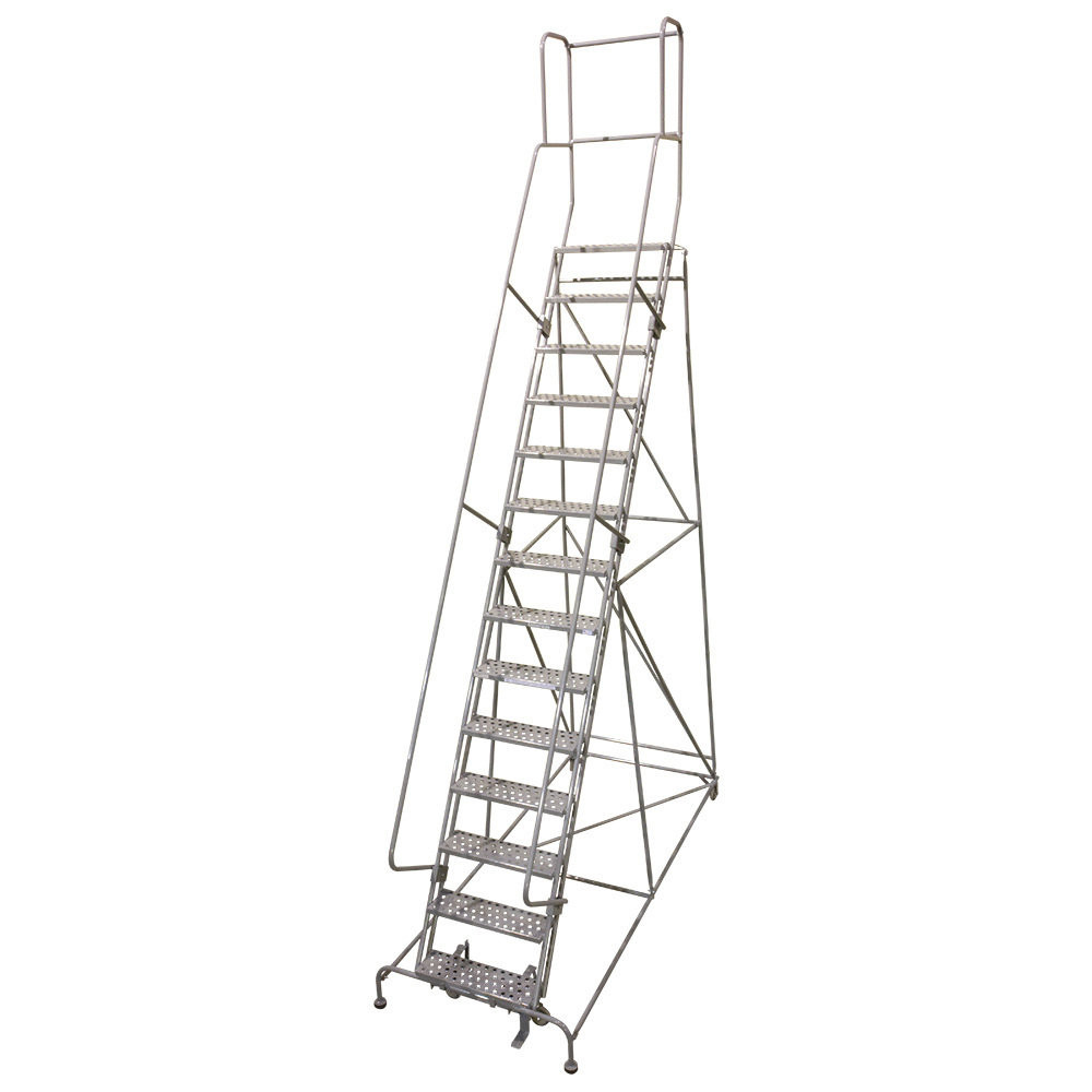 "Cotterman Knocked Down Steel Rolling Ladder - 24"" Wide"