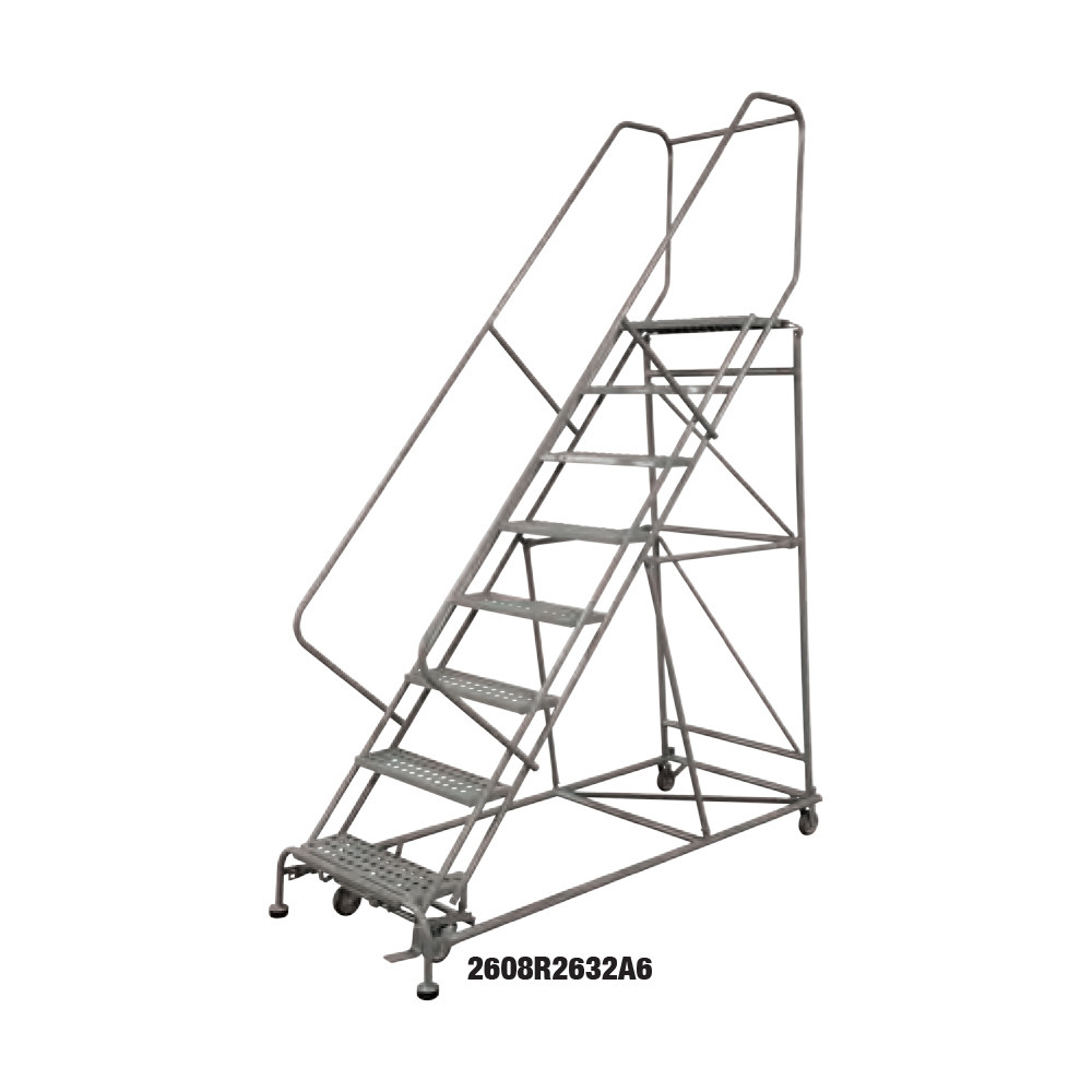 "Cotterman Heavy Duty Steel Rolling Ladder - 24"" Wide"