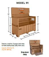 Knaack Model 91 STORAGEMASTER Piano Box with Ramp, 57.5 cu ft