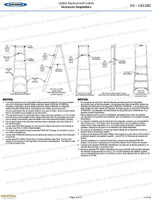 Werner LAS100 Safety Labels Aluminum Step Ladders