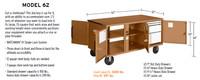 Knaack Model 62 WAR WAGON Rolling Work Bench, 3,400 lbs