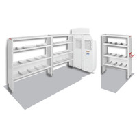 WeatherGuard Model 600-8410L Commercial Shelving Van Package, High-Roof, Ford Transit, 148 WB