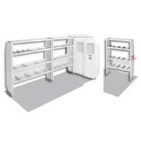 WeatherGuard Model 600-8210R Commercial Shelving Van Package, Mid-Roof, Ford Transit, 130 WB