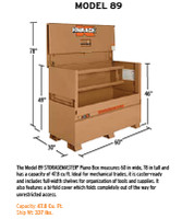 Knaack Model 89 STORAGEMASTER Piano Box, 47.8 cu ft