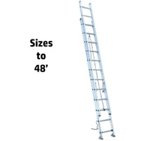Werner D500-2 Series Aluminum Extension Ladders