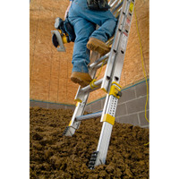 Werner D1800-2EQ Equalizer Series Extension Ladder 250 lb Rated