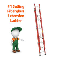 Werner D6200-2 Series Fiberglass Extension Ladder 300 lb Rated