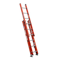 Werner D6200-3 Series 3-Section Fiberglass Extension Ladder 300 lbs rated