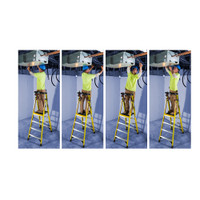 Werner PD7300-4C Series Podium Ladder with Casters 375 lb Rated